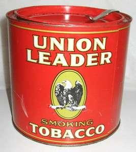 Union Leader Round Tobacco Tin