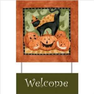 WeatherPrint 160040808 Standard Curlz MT  Boo Welcome Sign   Teresa