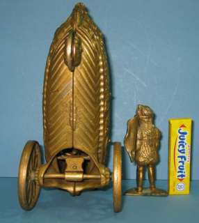 OLD CAST IRON BELL TOY LANDING OF COLUMBUS ALL ORIGINAL CI 420 |