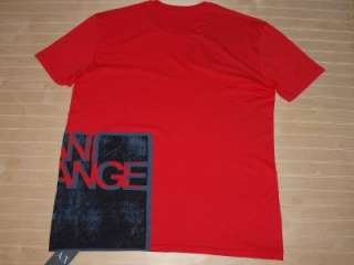 Armani Exchange Block Logo T shirt Red NWT