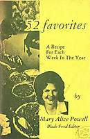 Mary Alice Powell TOLEDO BLADE food editor recipes 1972