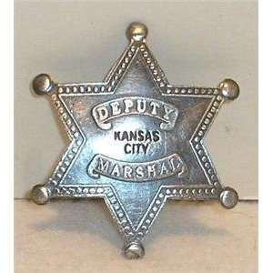 Deputy Marshal Kansas City Obsolete Old West Police Badge