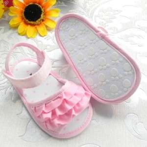 Cutest Pink Pleats Baby Girls Sandals Shoes 6 18mths US sizes 3, 4