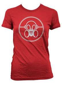 Ghast Logo Girl gas mask tee shirt raver cyber goth