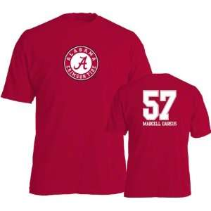 Marcell Dareus #57 Name and Number Alabama Crimson Tide T