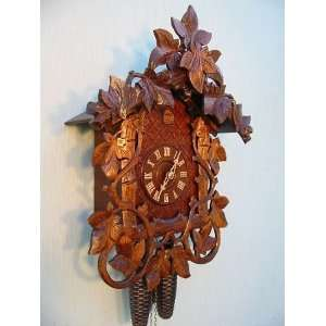 Romba Cuckoo Clock, Black Forest, Hand carved Vines, Model
