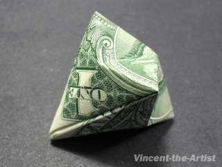 Dollar Money Origami DIAMOND ORNAMENT  Great Gift Idea