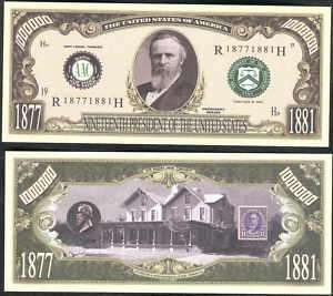 Lot of 100 Rutherford B. Hayes 19th President Bills