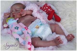 SUGAR PLUM NURSERY* Reborn Girl Doll ~ Painted Hair ~ Newborn life