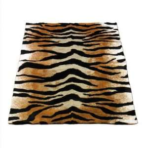Tiger  Safari Collection  Faux Fur Rug  5 foot X 7 foot