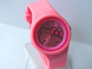 Brand New Fashion Jelly Silicone HelloKitty Girl Lady ODM Wrist Watch