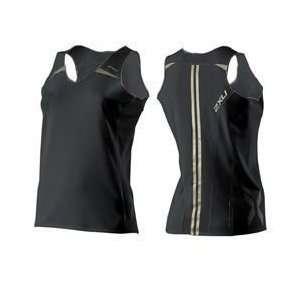 2xu Elite Run Singlet Womens Xlarge White Gold Sports