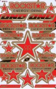New Rockstar Energy Racing stickers/decals 1 sheet st77