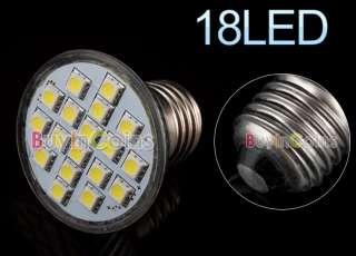E27 220V 3W 18 LED SMD 5050 6500K Cool White Light Bulb