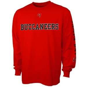 Tampa Buccaneers Red Team Ambition Long Sleeve T shirt
