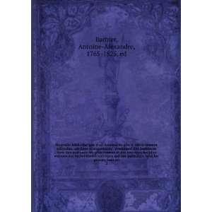 genres, taut en. 2 Antoine Alexandre, 1765 1825, ed Barbier Books