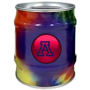 Arizona Wildcats UA NCAA Tie Dye Tin Bank Sports