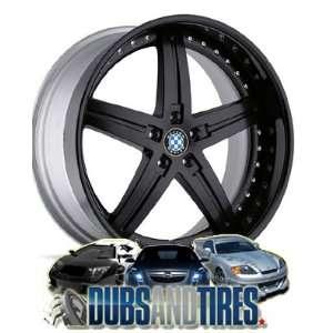 22 Inch 22x11 Beyern wheels WOLFF Black wheels rims