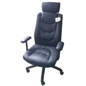 Furinno Classic Boss High Black Leather Executive Chair