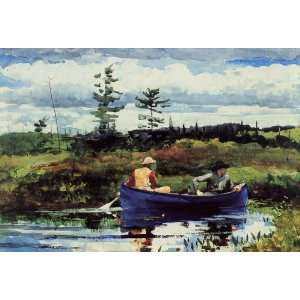 Oil Painting The Blue Boat Winslow Homer Hand Painted
