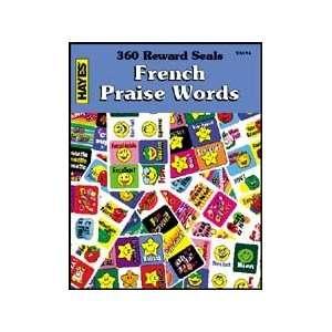 VA496 360 Reward Seals French Praise Words  Book contains 360 stickers