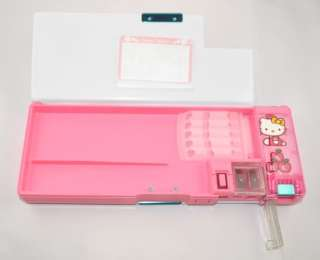 Hello Kitty two sided pencil/pen box with sharpener