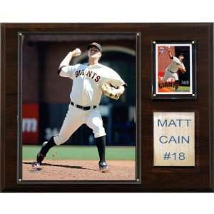 MLB Matt Cain San Francisco Giants Player Plaque