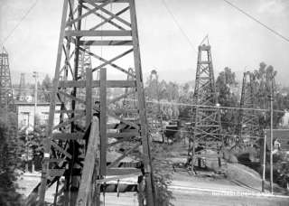 Central Oil Field well derrick Los Angeles County photo