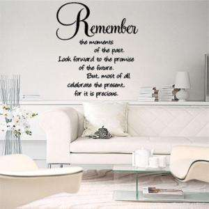 Remember The Moments Wall Lettering Vinyl Words Decal