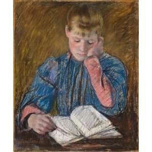 Cassatt   32 x 38 inches   Young Girl Reading: Home & Kitchen