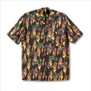 Motorcycle Mens Camp Shirt   Large   Style 38765:  Home