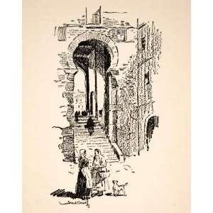 1928 Print Caswell Toledo Spain Castile Mancha Moorish