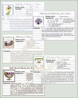 Wedding Bridal Shower Laminated Recipe Card Favors