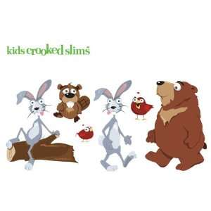 Kids Crooked Slims Whimsical, Removable Wall Stickers