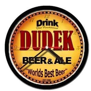DUDEK beer and ale cerveza wall clock: Everything Else