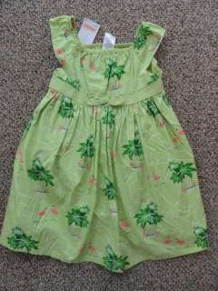 GYMBOREE PALM BEACH PARADISE TANK TOP SHIRT SHORTS DRESS HAT HAIR BOW
