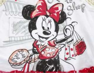 Girl DISNEY Minnie Mouse Top Dress Shirt SZ0 7Y Party Costume Skirt