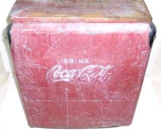 DRINK COCA COLA METAL COOLER by TEMPRITE MFG CO ARKANSAS CITY KANSAS