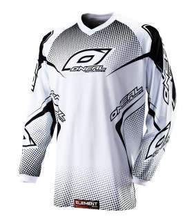 2012 ONeal Element Racing Jersey Motorcycle White/Black