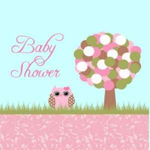 Cute baby shower pink owl and tree stickers Arts, Crafts