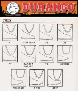 Durango Mens 7 Black Leather Western Side Zip Boots