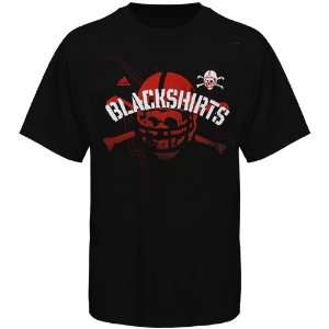 Adidas Nebraska Cornhuskers Mens Big Skull T Shirt