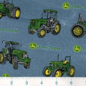 44 Wide John Deer Tractors Fabric By The Yard Arts