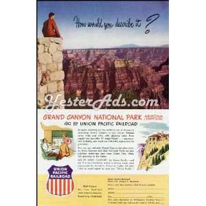 1951 Vintage Ad Union Pacific Railroad Grand Canyon: Everything Else