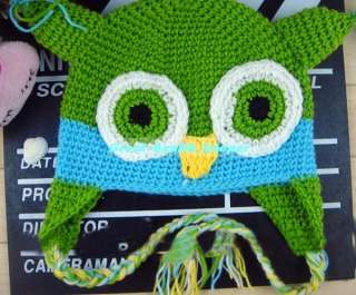 Baby Original Owl Ear Flap Crochet Beanie Infant Toddler Hat Cap