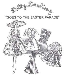 Dolly Darling Easter Parade Pattern For Vintage Barbie