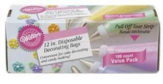 Wilton Disposable Cake Decorating Bags   12 100/Pk