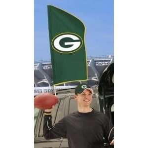 Green Bay Packers Applique Embroidered Tailgate Car Window Flag