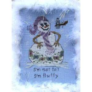 Im Not Fat, Im Fluffy   Cross Stitch Pattern: Arts