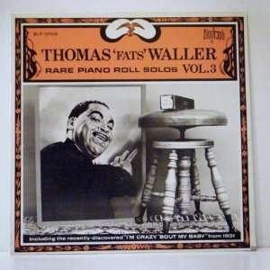 Fats Waller Rare Piano Roll Solos Vol. 3 Biograph Label Thomas Fats